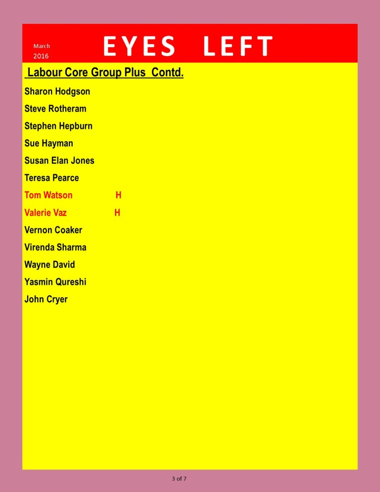 Publication1 Labour Party Loyalty list from Cameron 3 of 7