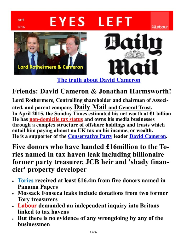 Publication 1 Cameron's Downfall 1 of 6