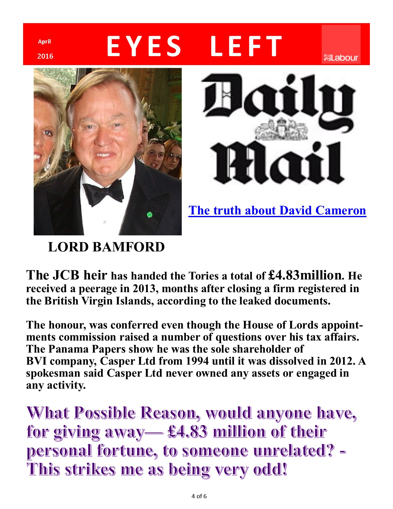 Publication 1 Cameron's Downfall 4 of 6