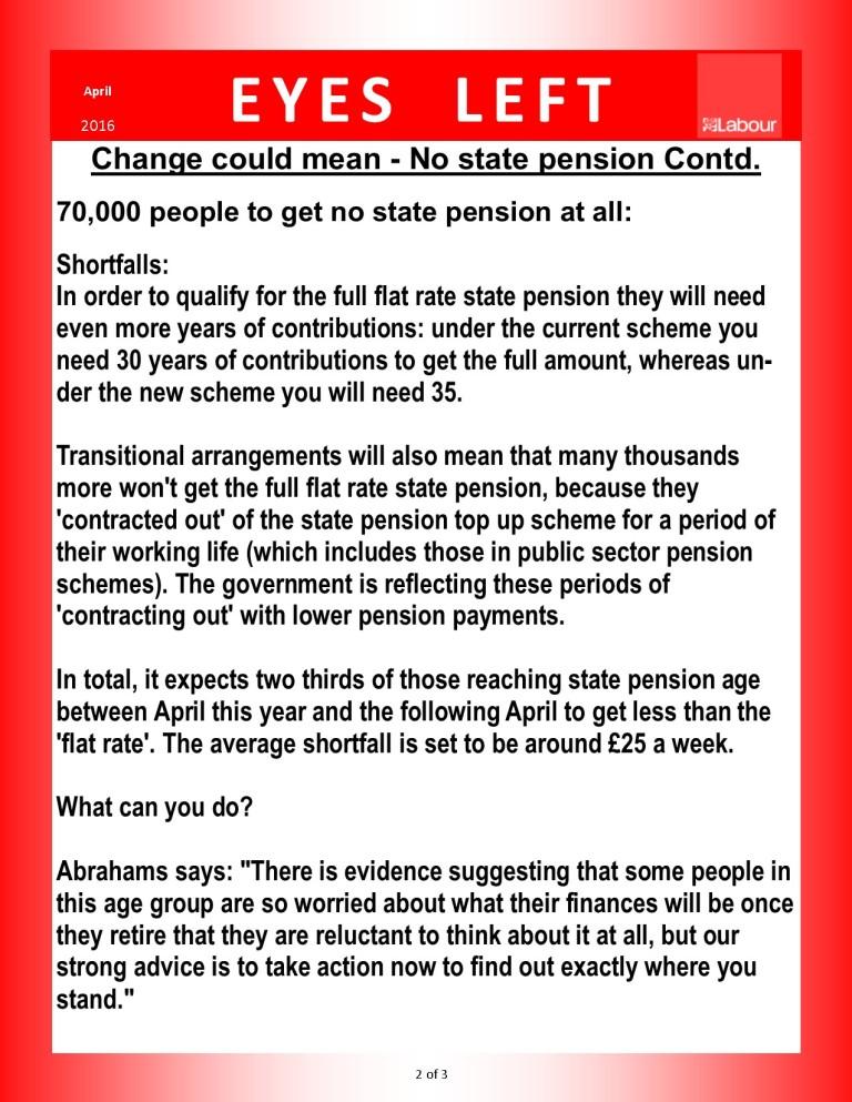 Publication 1   Pension changes 2 of 3
