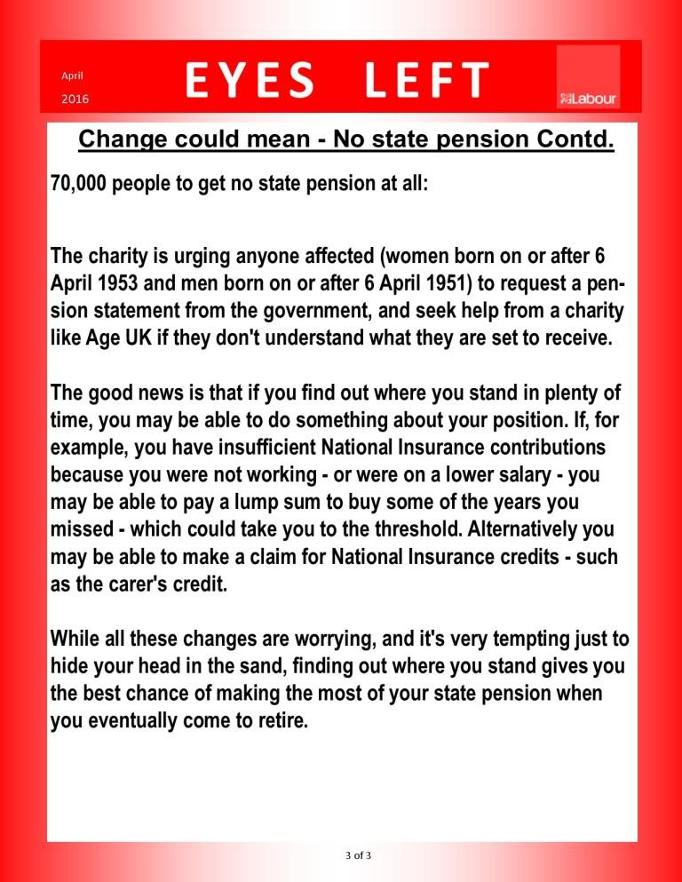 Publication 1   Pension changes 3 of 3