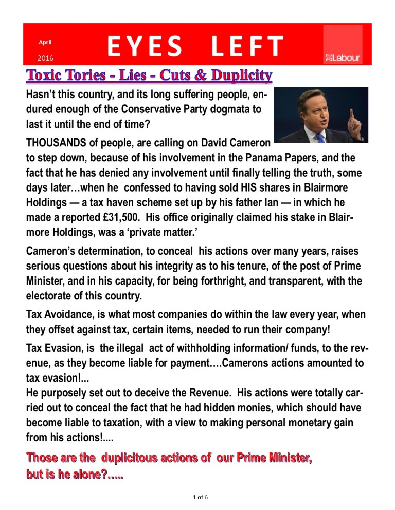 Publication 1   Toxic Tories 1 of 1