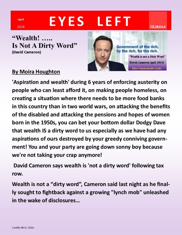 Publication 1   Wealth is not a dirty word