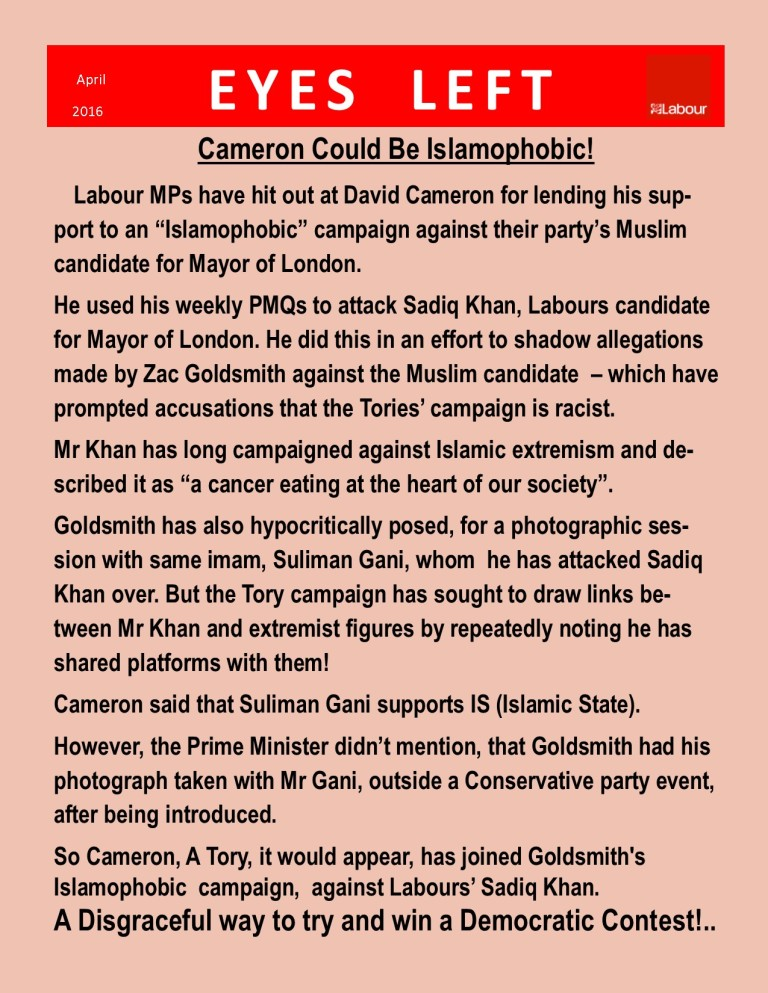 Publication1  Cameron is islamophobic