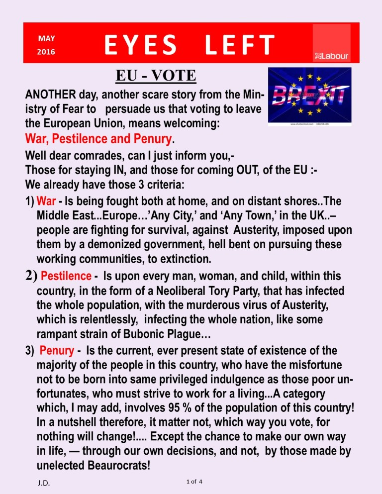 EU OUT - Brexit 1 of 4