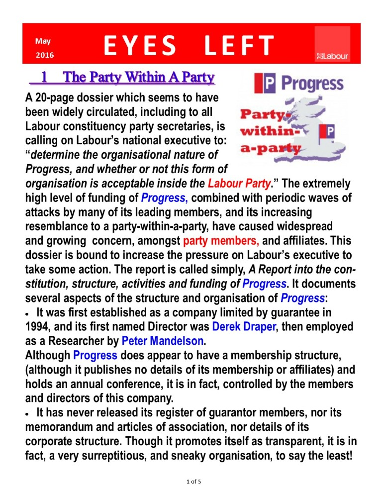 Publication1  The Report on Progress  by John Mcdonnell page 1 of 5