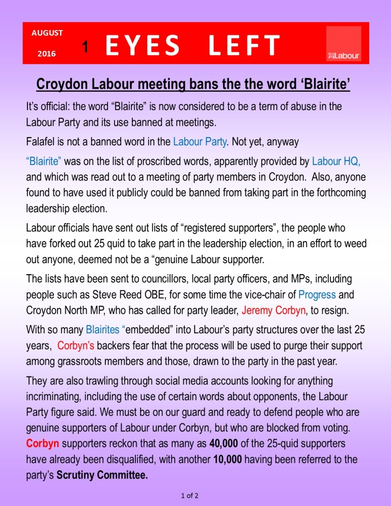Publication1 Purging if you mention Blairite    1 of 2