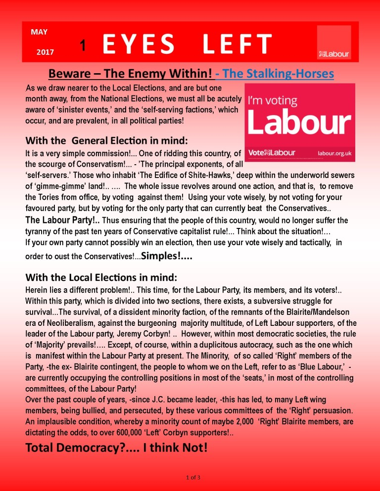 Publication1 Eyes left Vote labour to kick out Tories 1 of 3