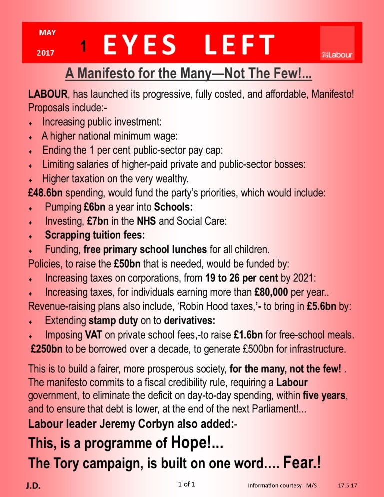 Publication1 Labour party manifesto 2017