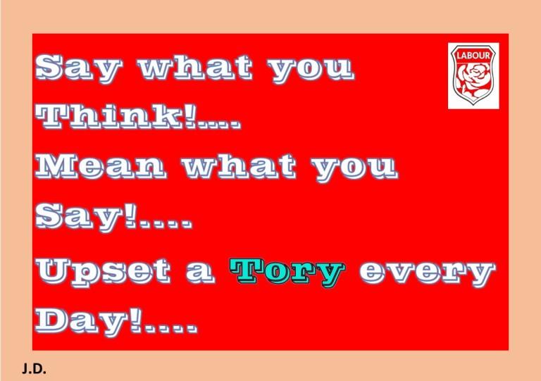 Upset a Tory
