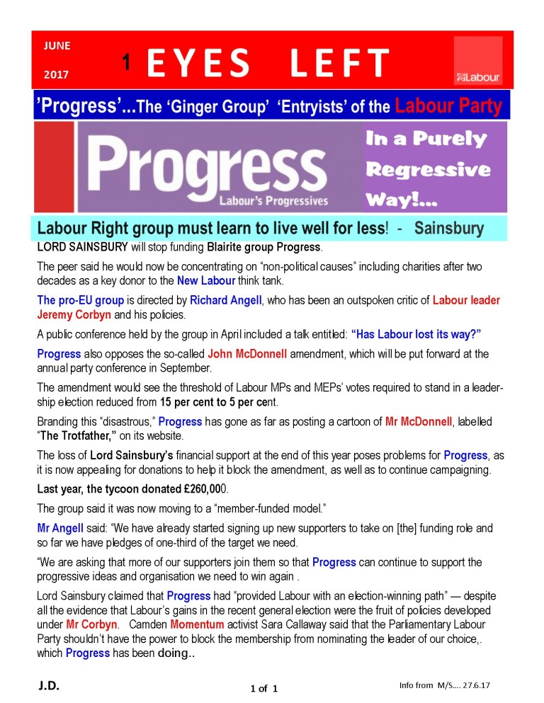 Publication1 sainsbury and progress
