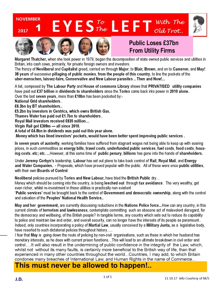 Publication1 Eyes Left public loses out to utility companies