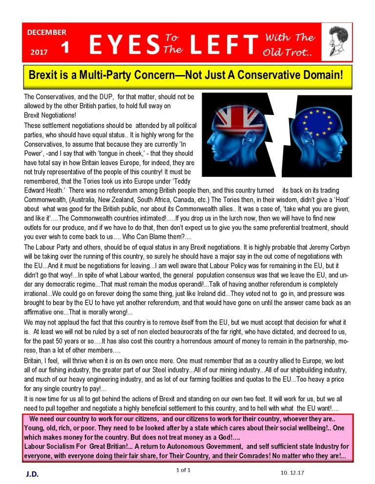 Publication1 Eyes Left Brexit negotiations