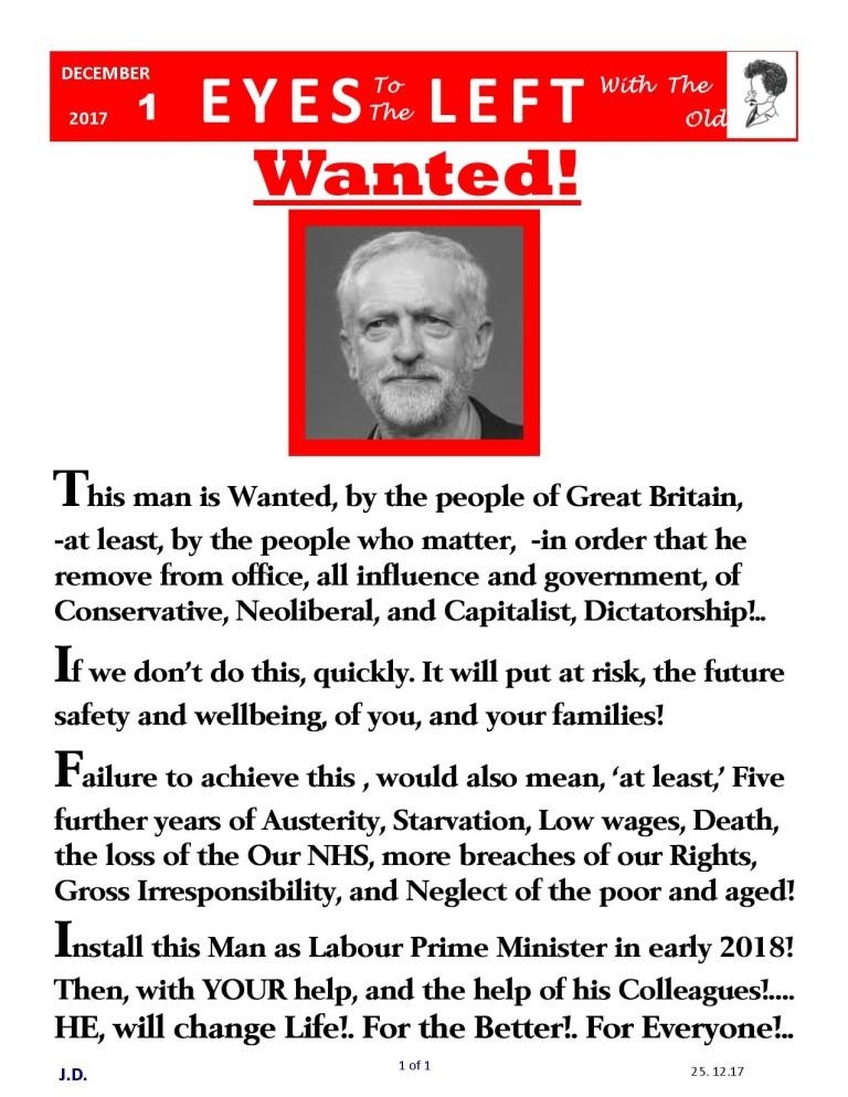 Publication1 Eyes Left Wanted