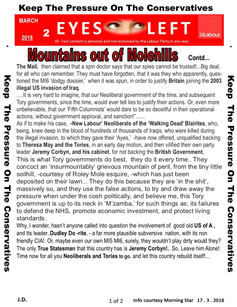 Publication 1 Eyes Left Mountains out of Molehills 2 of 2