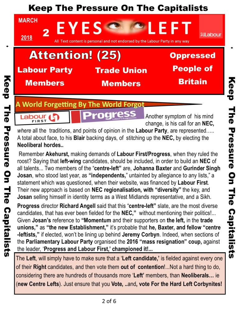 Publication 1 Eyes Left Progress and Labour 2 of 6