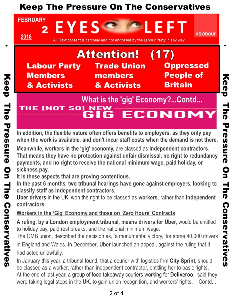 Publication 1 Eyes Left the gig economy 2 of 4