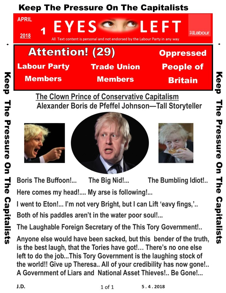 Publication 1 Eyes Left Boris clown prince of Liars