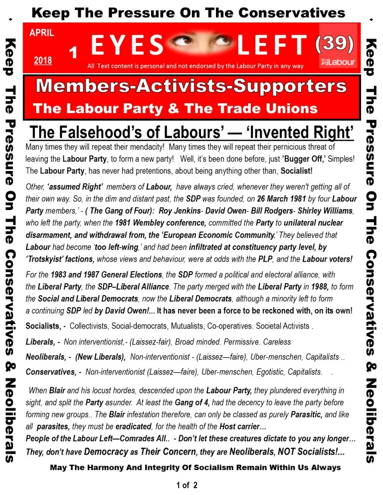 Publication 1 Eyes Left The truth about Labour Right 1 of 2